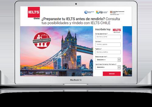 Cliente Ielts Chile anuncios en Google